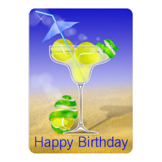 Tennis Margarita Birthday party Card