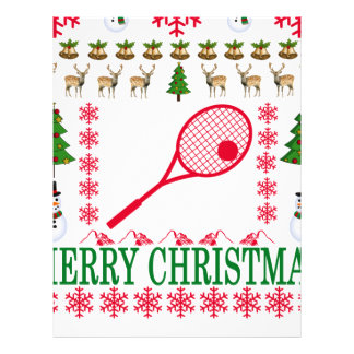 TENNIS MERRY CHRISTMAS . LETTERHEAD