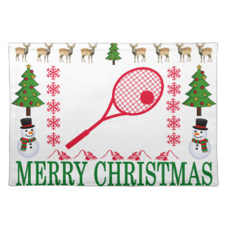 TENNIS MERRY CHRISTMAS . PLACEMAT