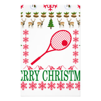 TENNIS MERRY CHRISTMAS . STATIONERY