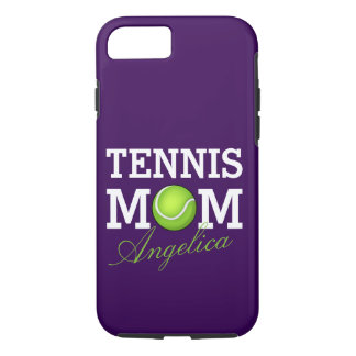 Tennis Mom Personalized Purple iPhone 7 Case