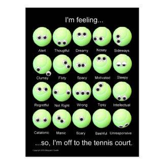 Tennis Moods Poster Postcard