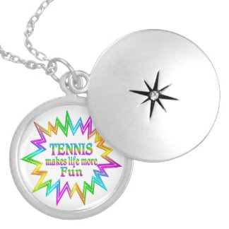 Tennis More Fun Locket Necklace
