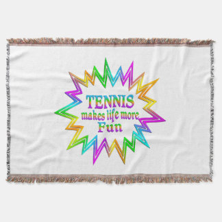 Tennis More Fun Throw Blanket