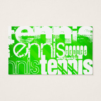Tennis; Neon Green Stripes. Business Card