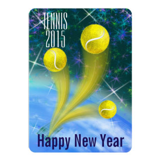 Tennis New Year's party invitation