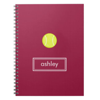 Tennis Notebook (Burgundy)