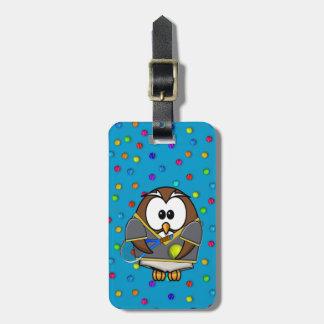 tennis-owl boy luggage tag
