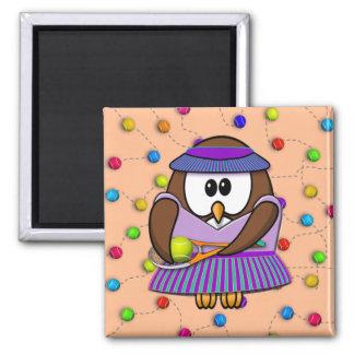tennis-owl girl magnet