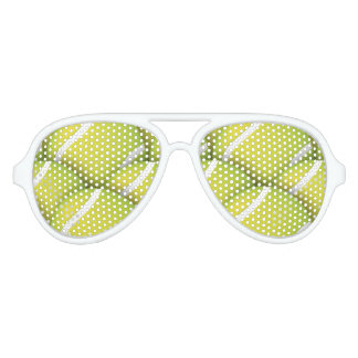 Tennis Pattern | Sport fan Aviator Sunglasses
