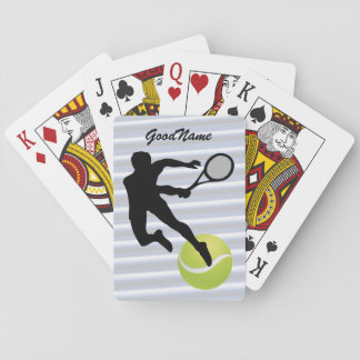 Tennis, personalize with name playing cards