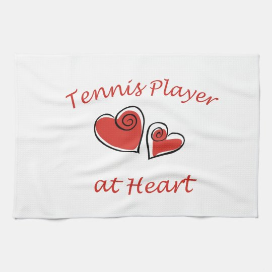 Tennis Player at Heart Kitchen Towel