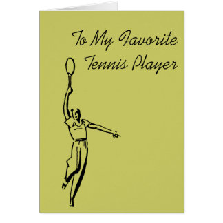 Tennis Player Greeting Cards