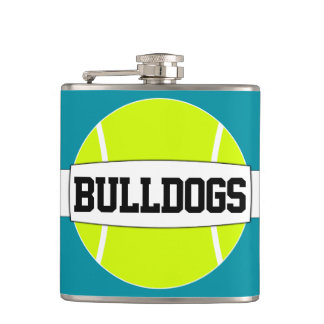 Tennis Player Fun Custom Text Hip Flask