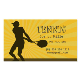 Tennis Player Instructor Sports Fitness Trainer Business Card
