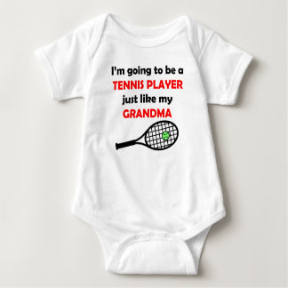 Tennis Player Like My Grandma Baby Bodysuit