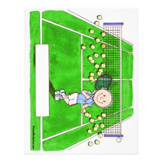 Tennis Player, Male - Personalized Cartoon Letterhead