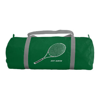 tennis player personalized gym bag