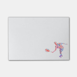 Tennis player post-it notes