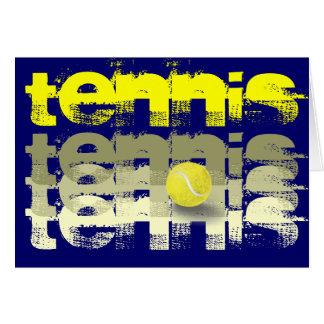 Tennis player tennis encouragement card