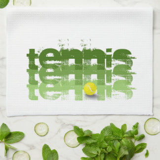 Tennis player, travel, personalized kitchen towel