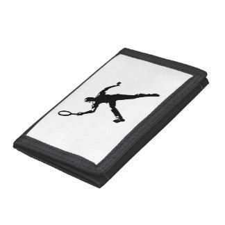 Tennis Player Tri-fold Wallet