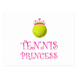 Tennis Princess Postcard