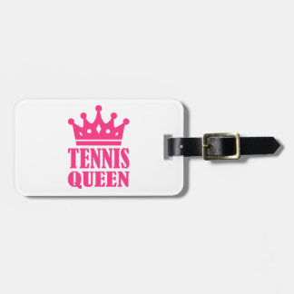 Tennis queen crown luggage tag