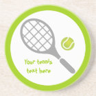Tennis racket and ball custom coaster