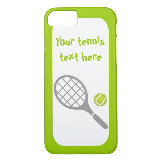 Tennis racket and ball custom iPhone 7 case