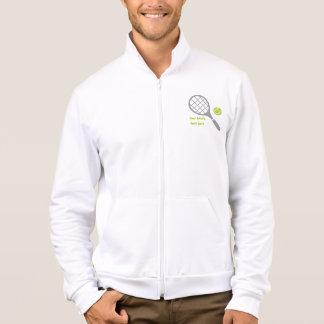 Tennis racket and ball custom jacket