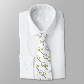 Tennis racket and ball custom tie