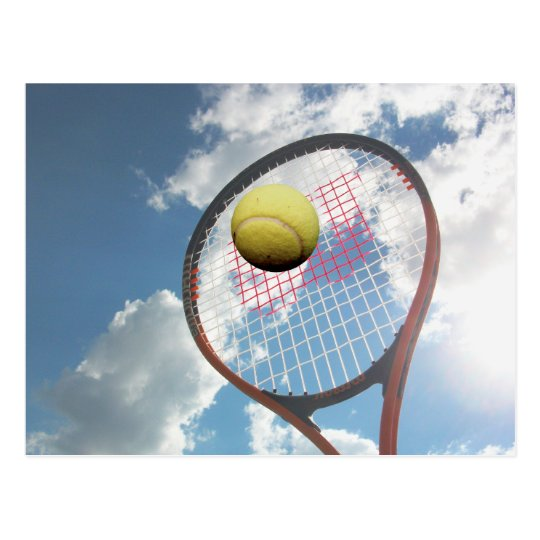 Tennis Racket and Ball in the Air Postcard