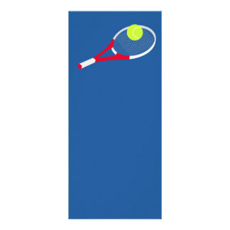 Tennis racket and tennis ball rack card