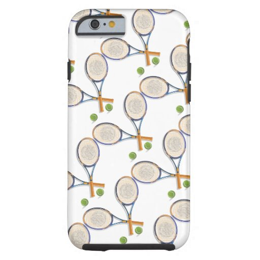 Tennis rackets and balls custom tough iPhone 6 case