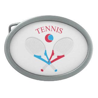 Tennis rackets and tennis ball belt buckles