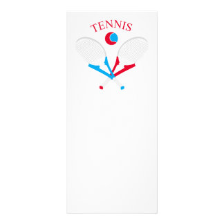 Tennis rackets and tennis ball rack card