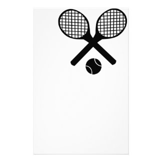 Tennis Rackets and Tennis Ball Stationery