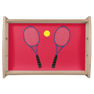 Tennis Rackets Serving Tray