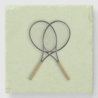 Tennis Rackets Sports Design Stone Beverage Coaster
