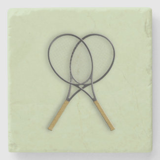 Tennis Rackets Sports Design Stone Coaster