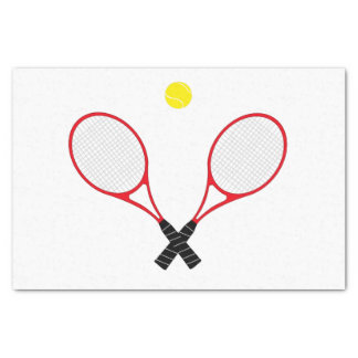 Tennis Rackets Tissue Paper