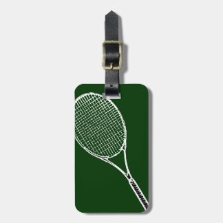 tennis racquet luggage tag
