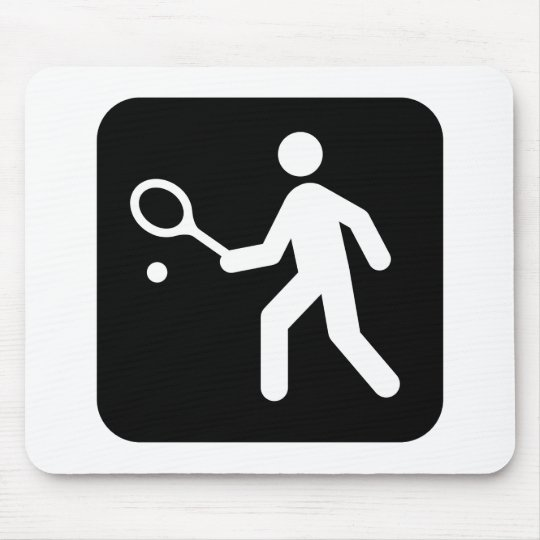 Tennis Racquetball Pictogram Mouse Pad