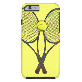 TENNIS RACQUETS & BALL iPhone 6 Case Tough iPhone 6 Case
