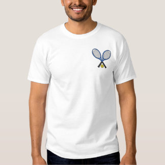 Tennis Racquets Embroidered T-Shirt