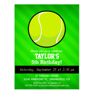 Tennis ; Rayures vertes au néon Carte Postale