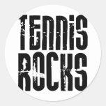 Tennis Rocks Round Stickers