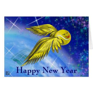 Tennis satellite Happy New Year Card