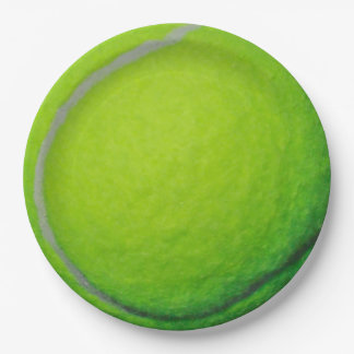Tennis 9 Inch Paper Plate